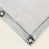 Transparant dekzeil PVC 550 gr/m² met ruit