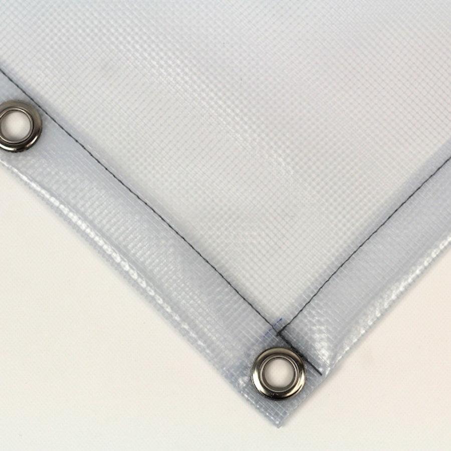 Bâche transparente de PVC 550 gr/m² armure carrée