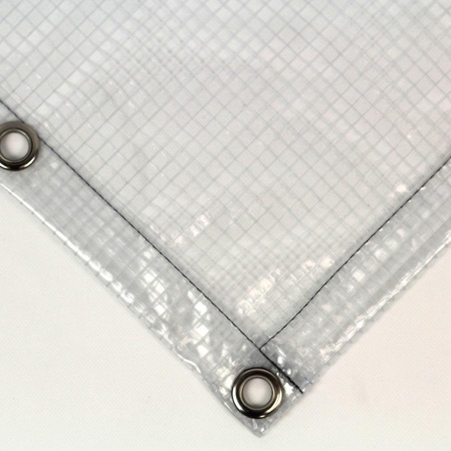 Bâche transparente de PVC 430 gr/m² armure carrée