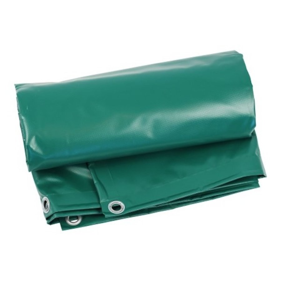 Bâche 5x8 PVC 600 oeillets 100cm - Vert