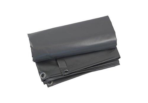 Afdekzeil 8x10 PVC 600 - Grijs