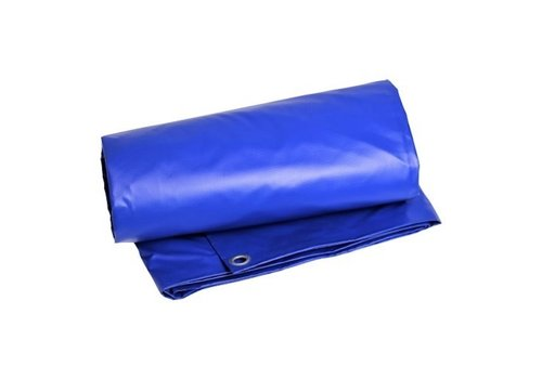 Afdekzeil 8x10 PVC 600 - Blauw