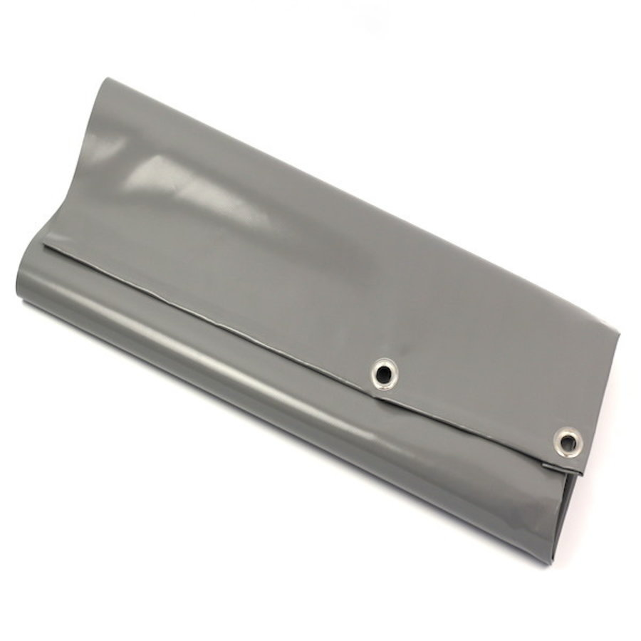 Dekzeil 6x6 PVC 650 ringen 50cm - Grijs