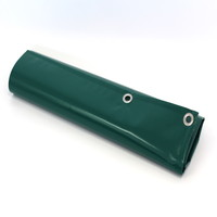 Dekzeil 9x9 PVC 650 ringen 50cm - Groen