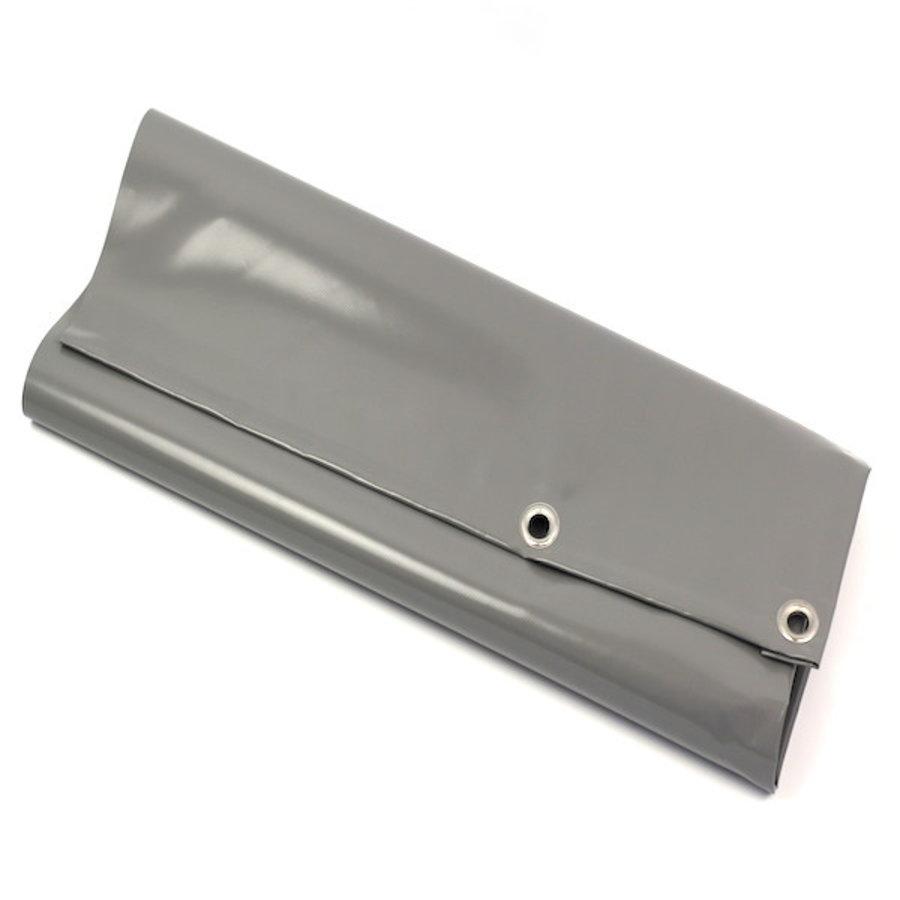 Dekzeil 9x9 PVC 900 ringen 50cm - Grijs