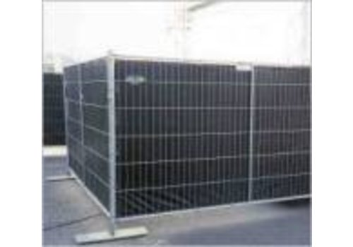 Bâche barrière 0,86x3,37m PE 200 ignifugé - Noir