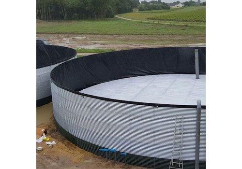 Bâche à bulles pour silo à eau sur mesure