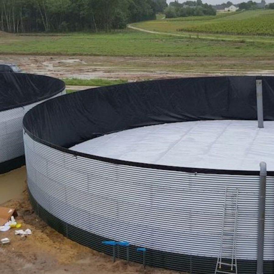 Bâche à bulles PE 540 micron pour silo à eau sur mesure