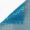 Zwembadzeil 2x2,60m noppenfolie Blauw/Zilver 400 micron Geobubble