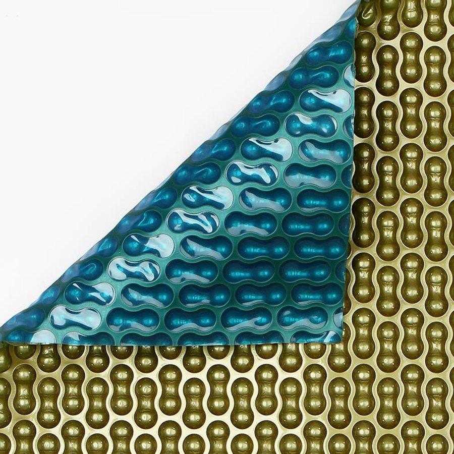 Zwembadzeil 2x2,60m noppenfolie Blauw/Goud 500 micron Geobubble