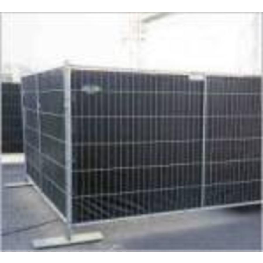 Bâche pour barrière PE 150 gr/m² ignifugé DIN4102-B1 - Noir