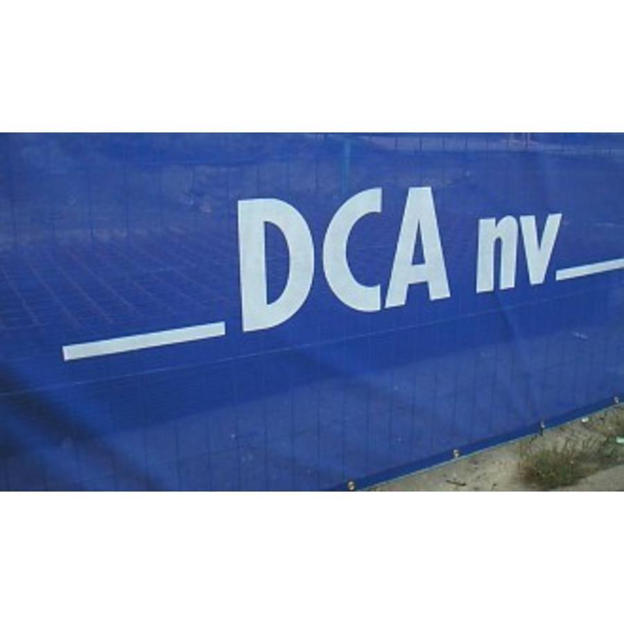 Hekwerkzeil PVC gaas 1,75m x 3,40m winddoorlatend