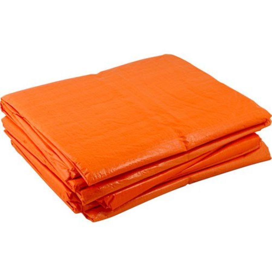Afdekzeil 6x8m 'Light' PE 100 gr/m² - Oranje