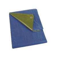 Afdekzeil 6x8m 'Medium' PE 150 gr/m² - Groen (onderzijde Blauw)