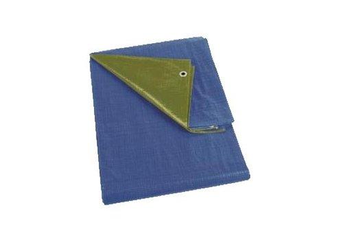 Afdekzeil 6x8m PE 150 - Groen/Blauw