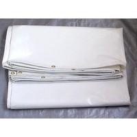 Bâche ignifugée 4x6m PVC 650 ignifugée norme M2/DIN4102-B1 - Blanc