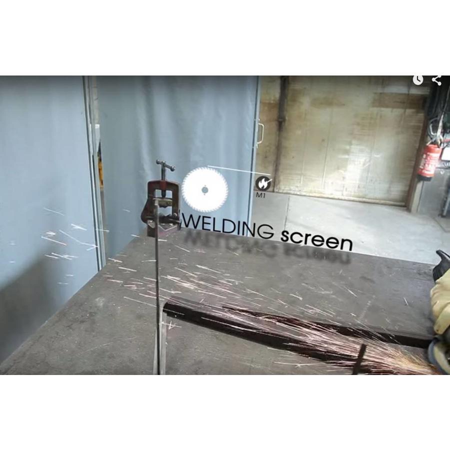 Bâche PVC/fibre de verre 600 ignifuge M1 - sur mesure