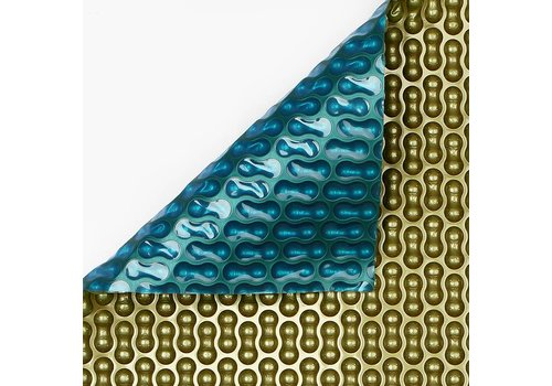 Noppenfolie 2x4m Blauw/Goud 500 micron Geobubble
