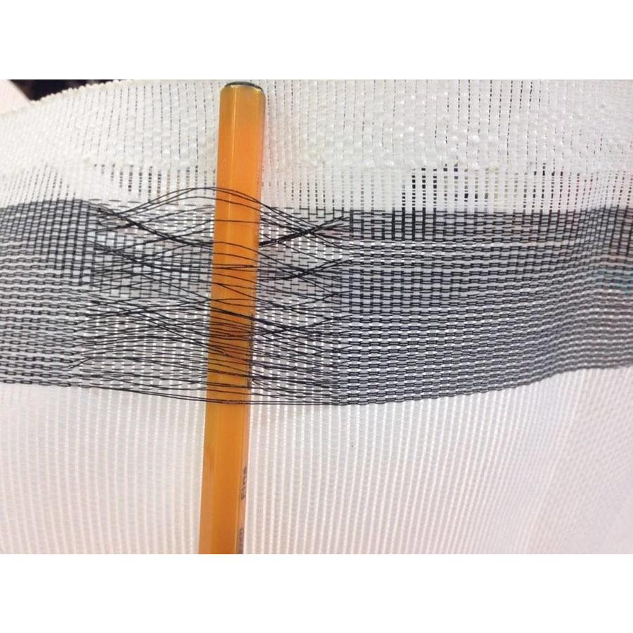 Steigernet 3,07m x 50m PE 130 gr/m2 - Wit