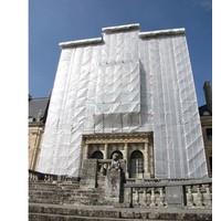 Filet d'échafaudage ignifugé PE 130 gr/m² - 2,57m x 50m Blanc