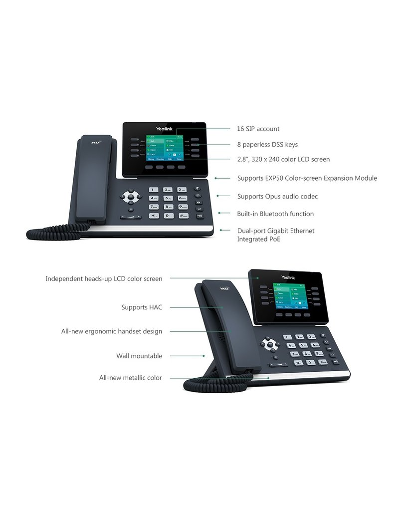 Yealink Yealink SIP-T52S Voip telefoon