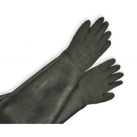 CONTRACOR Straalhandschoenen rubber | gevoerd | RGA | 600/800 mm.
