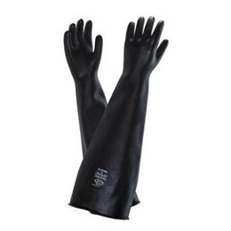 Straalhandschoenen rubber | 610 mm.