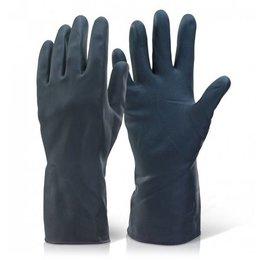 Straalhandschoenen rubber | 280 mm.