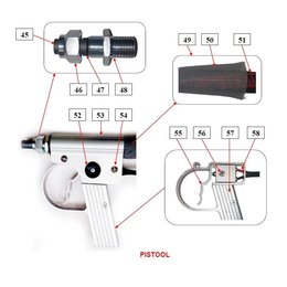 Problaster IBIX Onderdelen pistool Problaster 9
