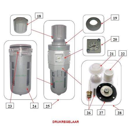 IBIX® Onderdelen drukregelaar IBIX® 9