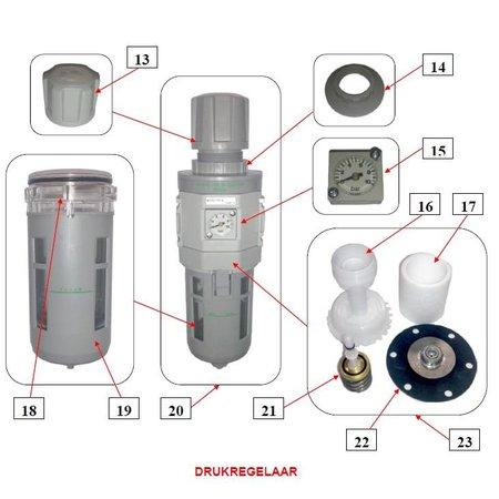 Problaster IBIX Onderdelen drukregelaar IBIX Problaster 25