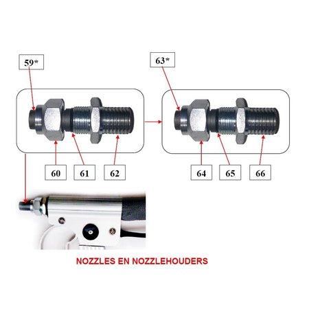 Problaster IBIX Onderdelen pistool IBIX Problaster 25