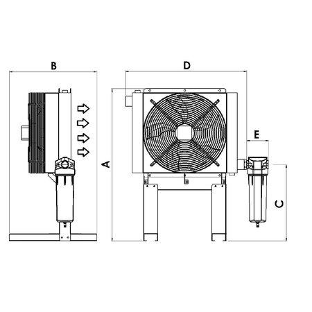 ATS PERSLUCHT NAKOELER | 30,0 M³/MIN. | PNEUMATISCH