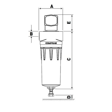 """COMPRAG Persluchtfilter DFF-072   7,2 m³/min.      1.1/4"""""""