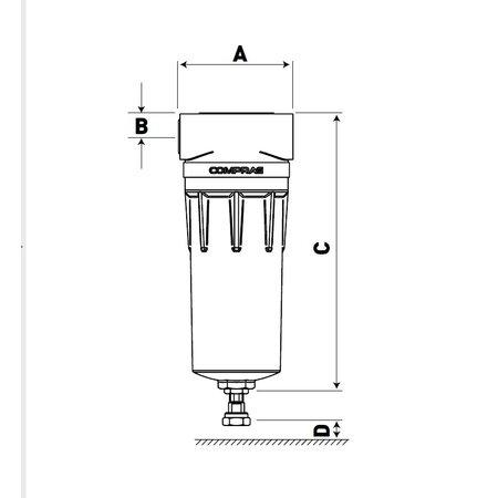 """COMPRAG Persluchtfilter DFF-187-Twin   18,7 m³/min.     3"""""""
