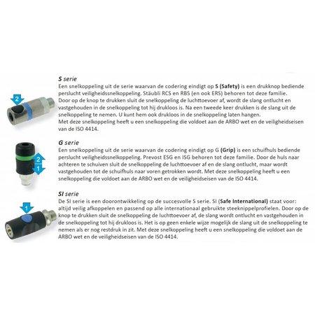 Stäubli SNELKOPPELING RCS 06 ISO6150C met buitendraad Y-stuk