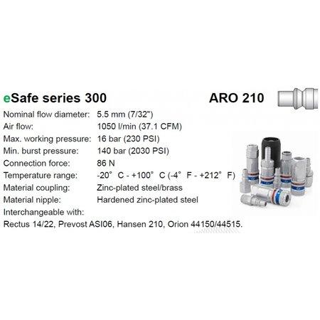 CEJN Veiligheidskoppeling 300 eSafe | Orion | Slangpilaar