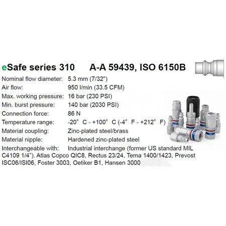 CEJN Veiligheidskoppeling 310 eSafe   ISO 6150 B06   BI-draad