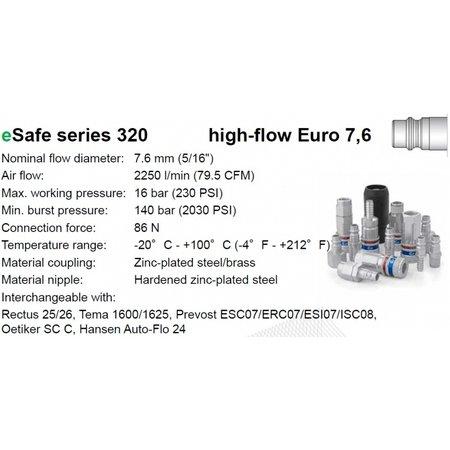 CEJN Veiligheidskoppeling 320 eSafe   EURO   BU-draad