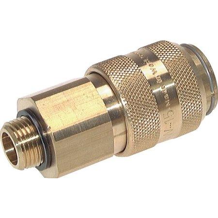 Snelkoppeling NW15   Messing vernikkeld   BU-draad   5000 l/min