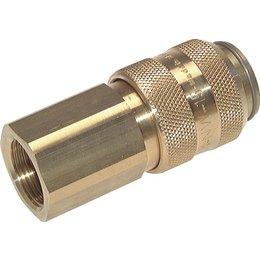 Snelkoppeling NW15   Messing vernikkeld   BI-draad   5000 l/min