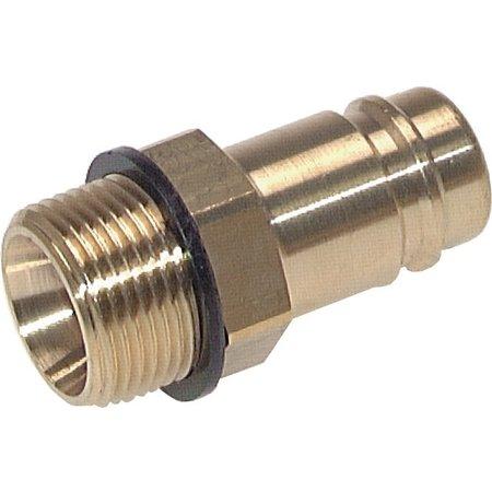 Insteeknippel NW15 | Messing vernikkeld |BU-draad | 5000 l/min