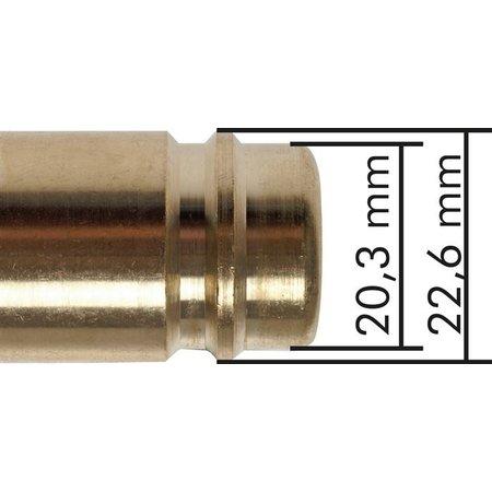 Insteeknippel NW15 | Messing vernikkeld |Slangpilaar | 5000 l/min