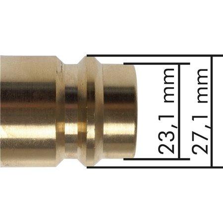 Snelkoppeling NW19 | Messing vernikkeld |BI-draad | 8000 l/min