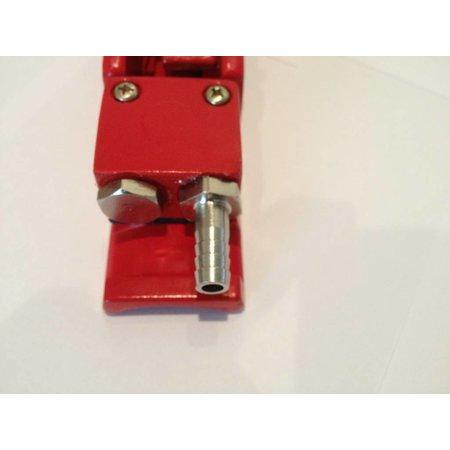CONTRACOR Aluminium dodemansknop | Pneumatisch | Enkellucht