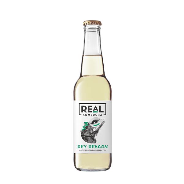 Real Kombucha Non-Alcohol Real Kombucha, Dry Dragon, 275ml