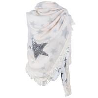 thumb-Prachtige Sjaal Stars - Off White-1