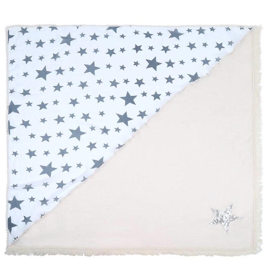 Prachtige Sjaal Stars - Off White-3