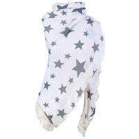thumb-Prachtige Sjaal Stars - Off White-4