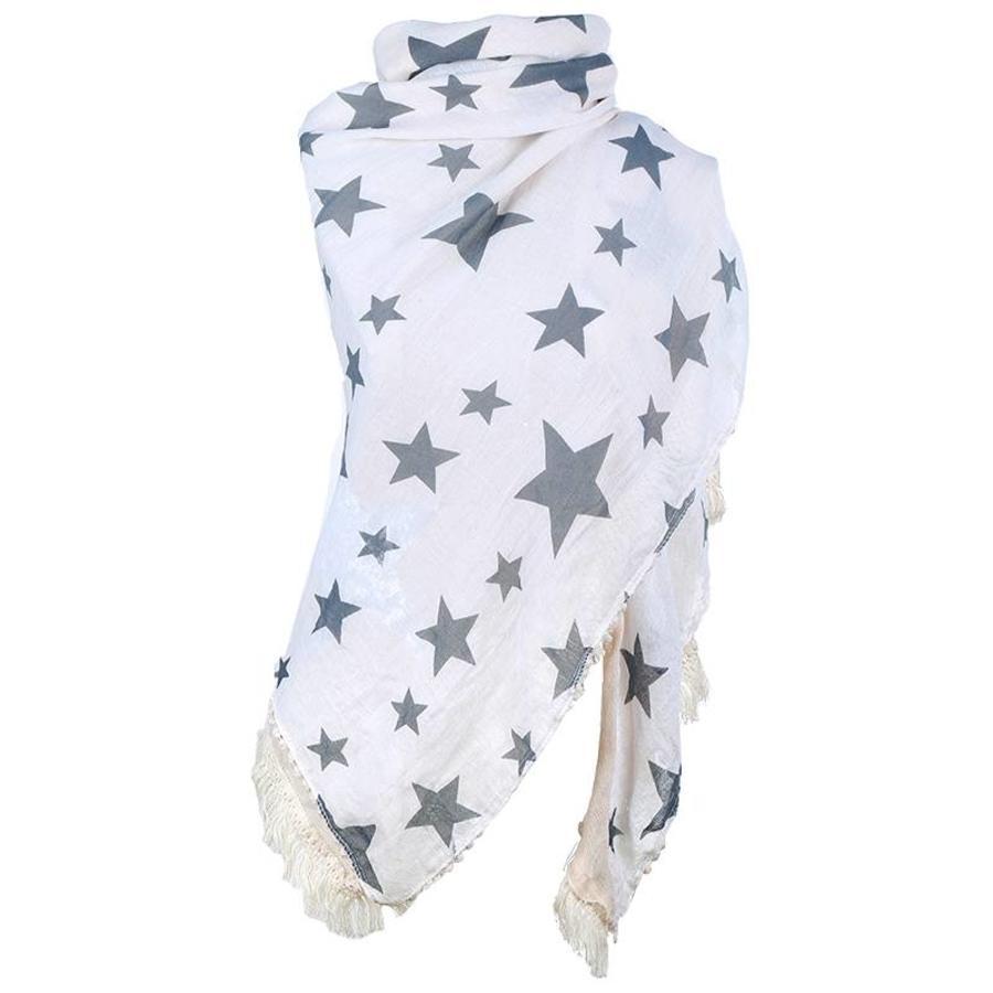 Prachtige Sjaal Stars - Off White-4
